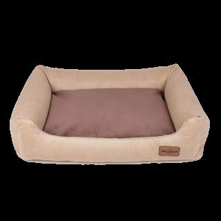 Kanapa Siberian Beż, double pillow Beż/Brąz